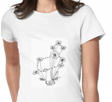 Floral Constellation - Leo Womens Fitted T-Shirt