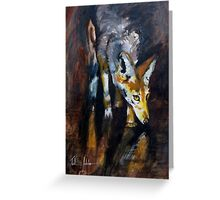 Jackal on the Prowl Greeting Card