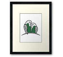 budgies birds Framed Print