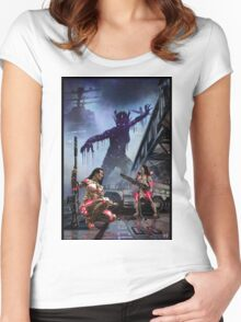 Cyberpunk Painting 074 Women's Fitted Scoop T-Shirt