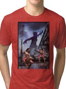 Cyberpunk Painting 074 Tri-blend T-Shirt