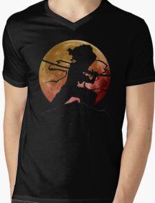 Afro Sword Slasher Mens V-Neck T-Shirt