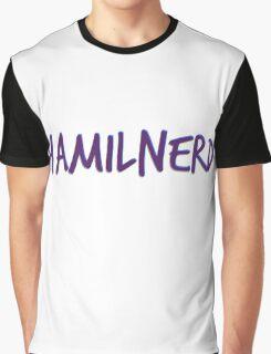 Hamilnerd Purple Graphic T-Shirt