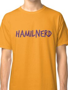 Hamilnerd Purple Classic T-Shirt