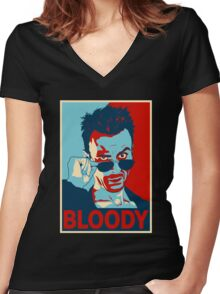 CASSIDY BLOODY Women's Fitted V-Neck T-Shirt