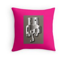 Robot Illustrator 1 Throw Pillow