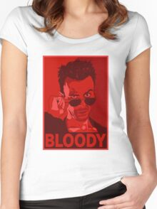 CASSIDY BLOODY RED Women's Fitted Scoop T-Shirt