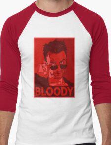 CASSIDY BLOODY RED Men's Baseball ¾ T-Shirt