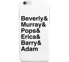 The Goldbergs Character List Helvetica iPhone Case/Skin