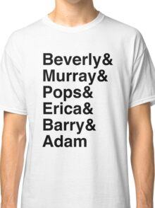 The Goldbergs Character List Helvetica Classic T-Shirt