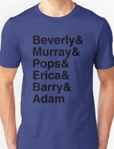 The Goldbergs Character List Helvetica Unisex T-Shirt