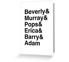 The Goldbergs Character List Helvetica Greeting Card