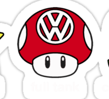 VW Power Up (white print) Sticker