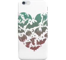 Bat Heart; blue/pink ombre iPhone Case/Skin