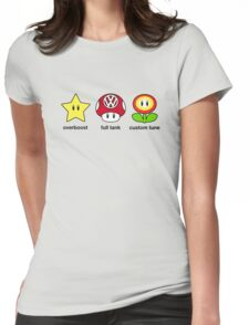 VW Power Up (black print) Womens Fitted T-Shirt