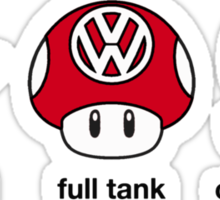 VW Power Up (black print) Sticker