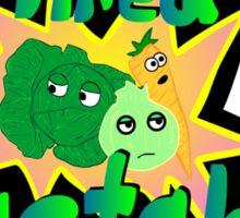 Tired Vegetables Sticker