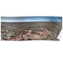 Willandra Lakes National Park Panorama, NSW Poster