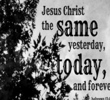 Hebrews Jesus Christ Same Sticker