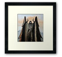 Skyrim angel statue painting Framed Print