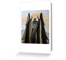 Skyrim angel statue painting Greeting Card