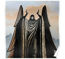 Skyrim angel statue painting Poster