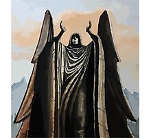 Skyrim angel statue painting Photographic Print
