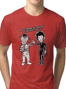 Ec & Fred Scissors Contest Tri-blend T-Shirt
