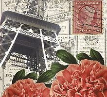 Eiffel Tower and Peonies by claryce84