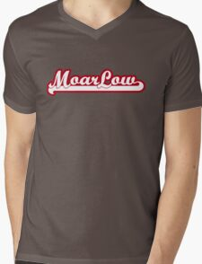 MoarLow (red) Mens V-Neck T-Shirt