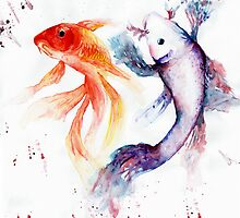 Fish - abstract painting by PointElement