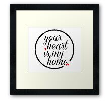 Your Heart Is My Home Framed Print