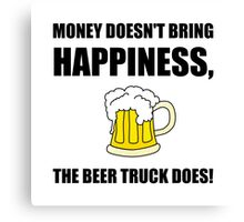 Beer Truck Happiness Canvas Print
