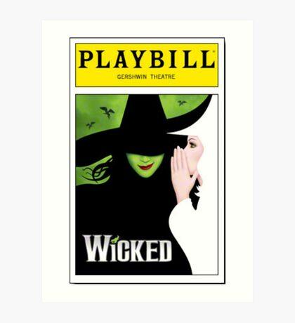 Wicked Playbill Art Print