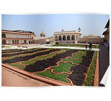 The Red Fort Palace Gardens, Agra. Poster