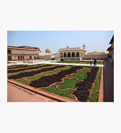 The Red Fort Palace Gardens, Agra. Photographic Print