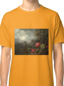 Martin Johnson Heade - Martin Johnson Heade. Garden landscape: garden view, trees and flowers, blossom,  lotus blossom, botanical park, orchid, wonderful flowers, sky, passion, magnolias, hummingbird Classic T-Shirt