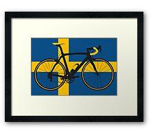 Bike Flag Sweden (Big - Highlight) Framed Print