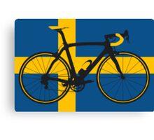 Bike Flag Sweden (Big - Highlight) Canvas Print