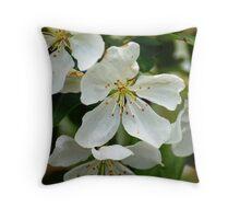 Crabapple blossoms.. Throw Pillow