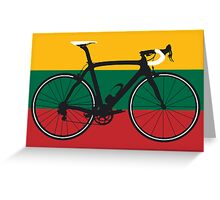 Bike Flag Lithuania (Big - Highlight) Greeting Card