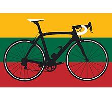 Bike Flag Lithuania (Big - Highlight) Photographic Print
