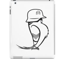 budgie funny soldier iPad Case/Skin