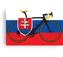 Bike Flag Slovakia (Big - Highlight) Canvas Print