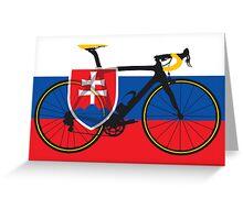 Bike Flag Slovakia (Big - Highlight) Greeting Card