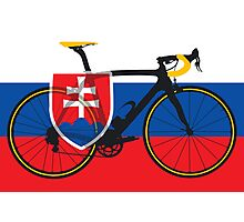 Bike Flag Slovakia (Big - Highlight) Photographic Print