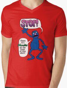 Monster on the Front of the Shirt Mens V-Neck T-Shirt
