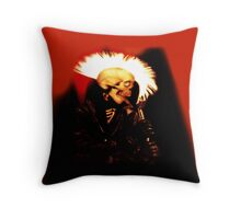 PUNK SKULL ROCKER Throw Pillow