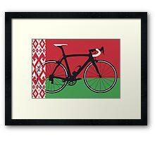Bike Flag Belarus (Big - Highlight)  Framed Print