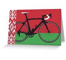 Bike Flag Belarus (Big - Highlight)  Greeting Card